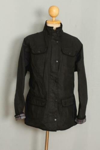 Womens BARBOUR Utility Waxed Jacket Black Size USA