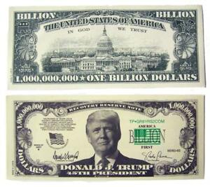 Image Is Loading 100 Bills Of Fake Trick Donald Trump Billion