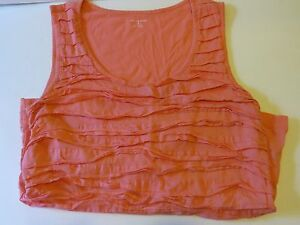 bc782c7d53600a Land s End Women s Small 6 8 light orangy coral colored ruffled tank ...