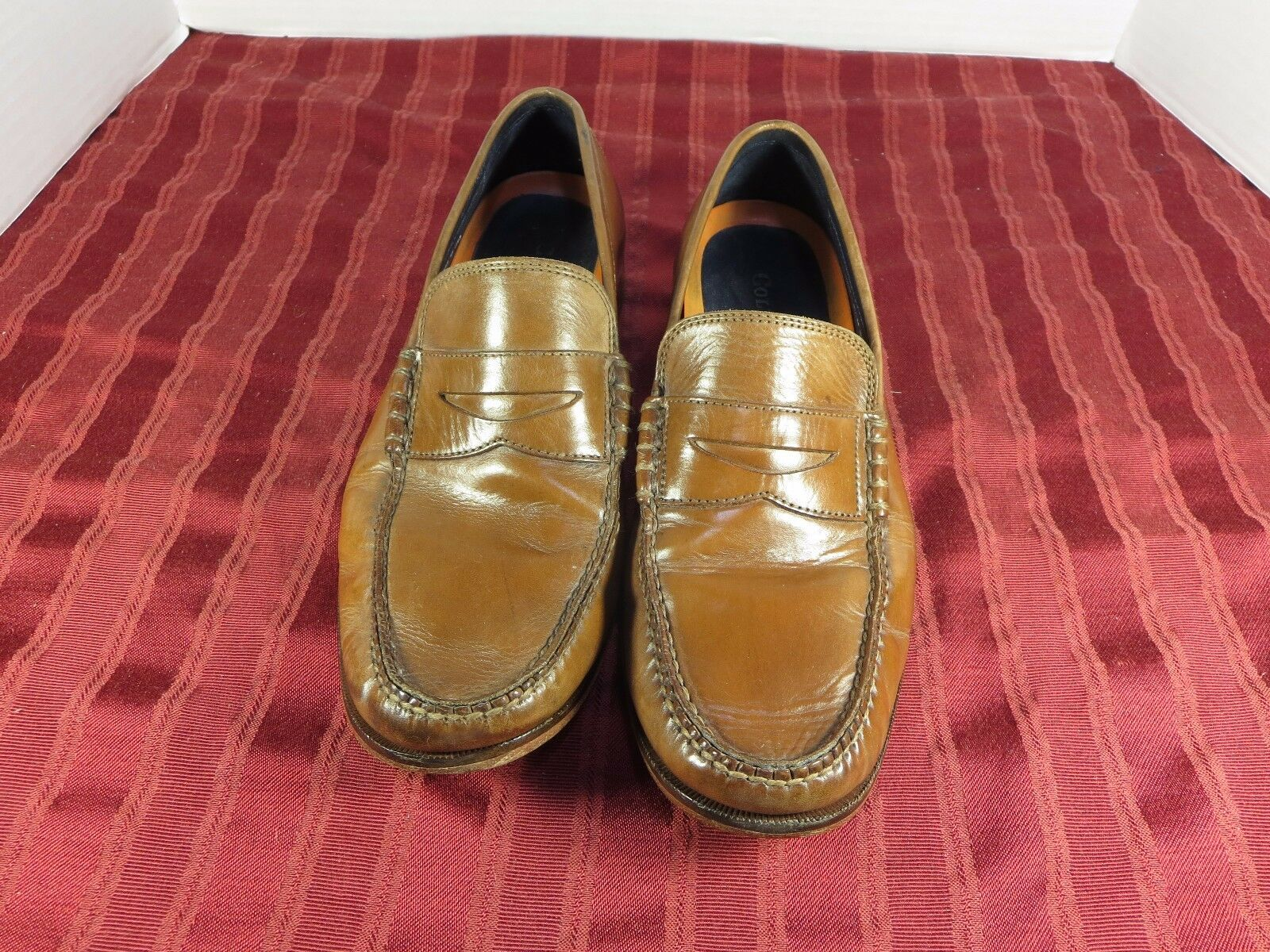 Cole Haan Brown Leather Penny Loafers Casual Dress shoes Men Size 8.5 M
