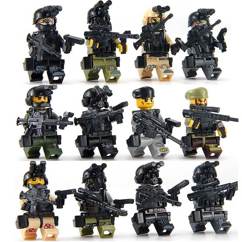 Militärische Minifigur Bicks Swat Polizei Armee Team Baustein Spielzeug Geschenk