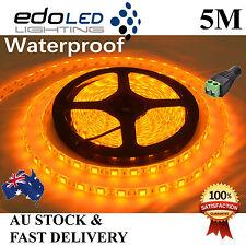 Waterproof Yellow Amber 12V 5050 SMD 300 LED 5M Led Strip Lights Camping Caravan