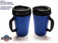 2 Thermo-serv Foam Insulated Coffee Mug 20 Oz - Blue