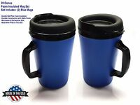 2 Thermo-serv Foam Insulated Coffee Mug 20 Oz - Blue