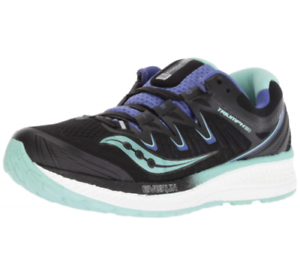 Saucony S10413 4 Triumph ISO 4 Black Aqua Violet Women/'s Running Shoes