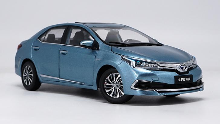 1 18 FAW Toyota original  hommeufacturer,Toyota corlla Hybrid alloy voiture model  les clients d'abord