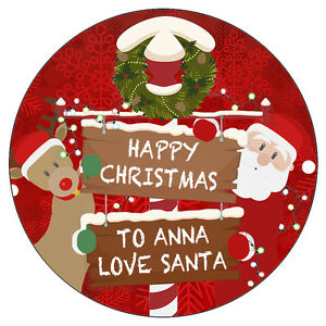 image is loading personalised happy christmas stickers happy new year party