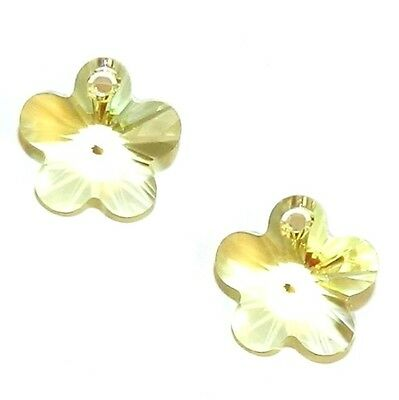 2pc Swarovski Crystal 14mm Flower 6744 Pendants; 4 Color Choices CLEARANCE