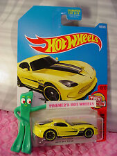 2013 SRT VIPER #199✰yellow Dodge; oh5✰✰THEN AND NOW✰2017 Hot Wheels case J/K