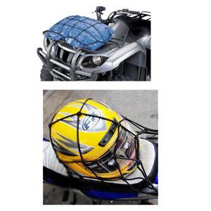 "CARGO NET BUNGEE ELASTICATED LUGGAGE MOTORBIKE CAR STORAGE 15/"" X 15/"" WITH HOOKS"