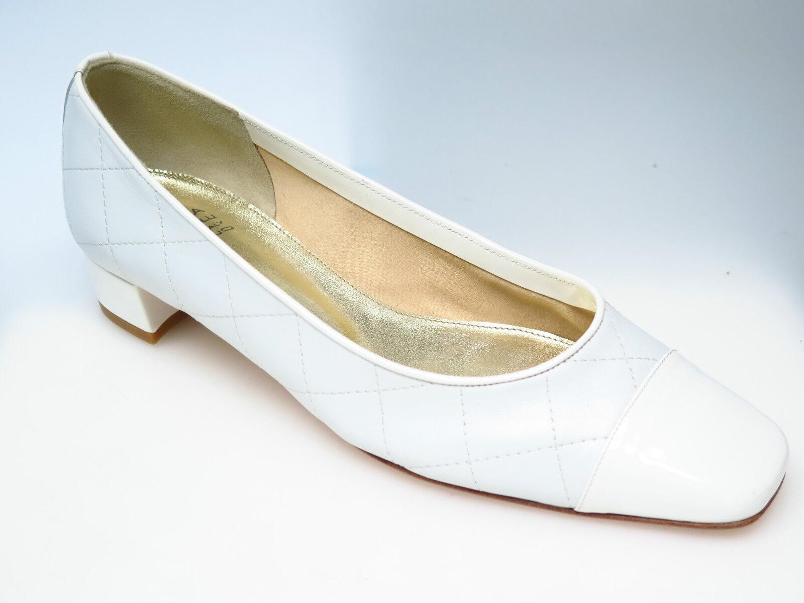 SULTANA Schuhe Designer Damenschuhe N2714 N2714 N2714 Lucy Nappa Bianco Coco Gr. 37,5 NEU 51bde8