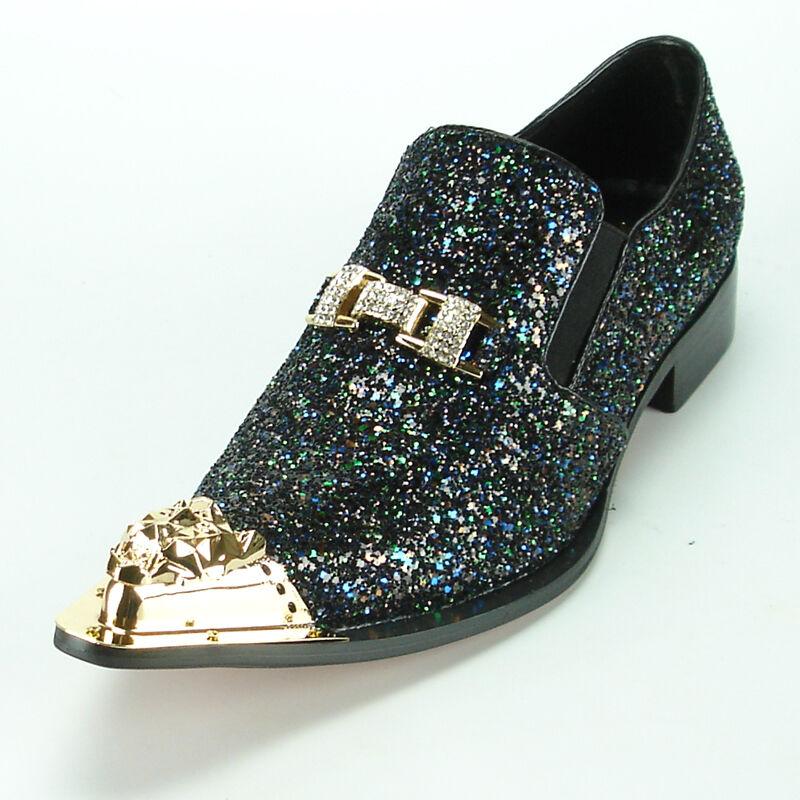 comodamente FI-7072 nero Glitter with oro Ornament and Metal Tip Tip Tip Fiesso by Aurelio Garcia  la migliore offerta del negozio online