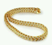Custom made Mens Iced Out Gold CZ 12mm Franco Chain Thick Heavy Necklace