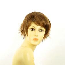 short wig for women brown copper wick light blond ref ROMANE 6bt27b PERUK