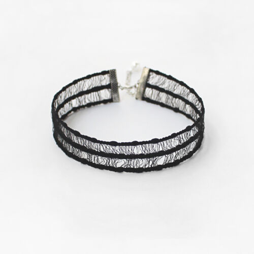 grey lace choker soft comfort  to wear in 20mm width Classic fashion black