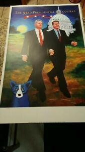 George-Rodrigue-Blue-Dog-Clinton-print-limited-edition-to-5000