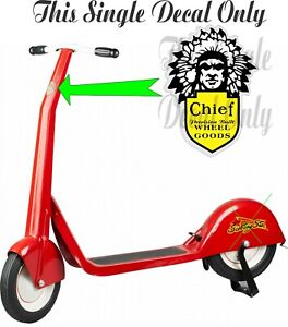 Vintage 1930's Chief Scooting Star Push Scooter - Chief Decal Only