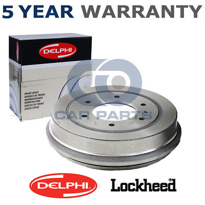 Brake Drums Full Axle Set 180mm Fits Fiat Rear Delphi Brake Shoes Ford
