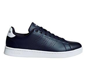 Chaussures-Hommes-adidas-Basket-Sportif-Basses-Ecole-Tennis-Baskets-Cuir-Bleu