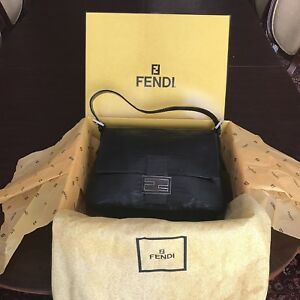 ee1650be4566 Image is loading RARE-Authentic-Fendi-Mama-Baguette-Genuine-Alligator-Skin-