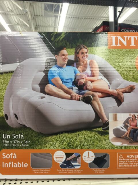 Inflatable Camping Bed Sofa Outdoor Air Mattress Durable Intex