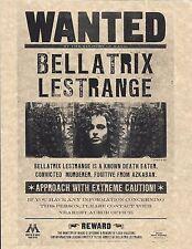 Harry Potter Wanted Bellatrix LeStrange Poster/Flyer Prop/Replica