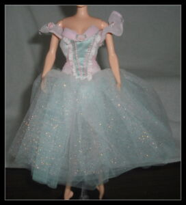 DRESS BARBIE DOLL NUTCRACKER PEPPERMINT PINK LAYERED TULLE BALLERINA COSTUME