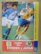 1995 Umbro Cup/Int'l Challenge Tournam- SWEDEN v JAPAN (Official Souvenir Progr)