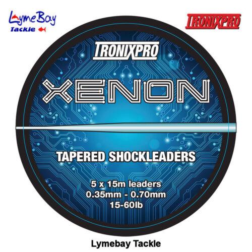 Tronixpro Xenon Tapered Shockleaders Clear (15lb - 50lb, 15lb - 60lb) 5 x 15m