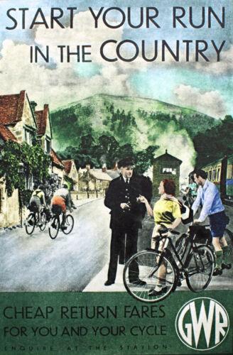 Gwr Vintage Déco Chemin de fer / travel poster A1, A2, A3, A4 Tailles