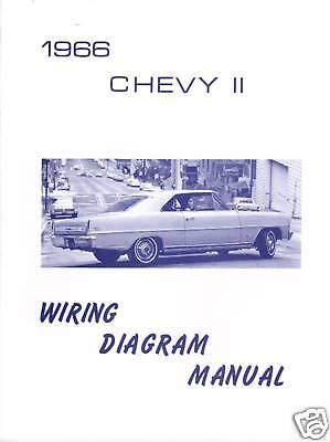 1966 66 NOVA/CHEVY II WIRING DIAGRAM MANUAL | eBay