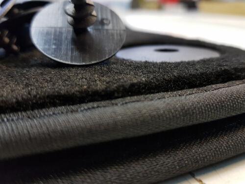 Original Qualität Velours Auto-matten 2x Schwarz Matte A1 2 tlg Fußmatten AUDI