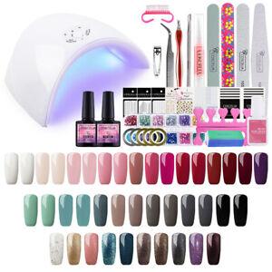 Nail-Soak-off-Gel-Polish-Kit-Starter-Manicure-Set-With-UV-Led-Lamp-Art-Tool-AU