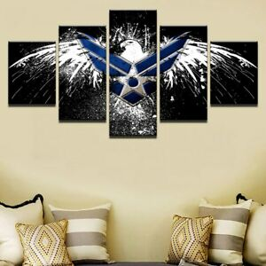 Air Force Eagle Flag Logo 5 Pieces canvas Wall Art Picture ...