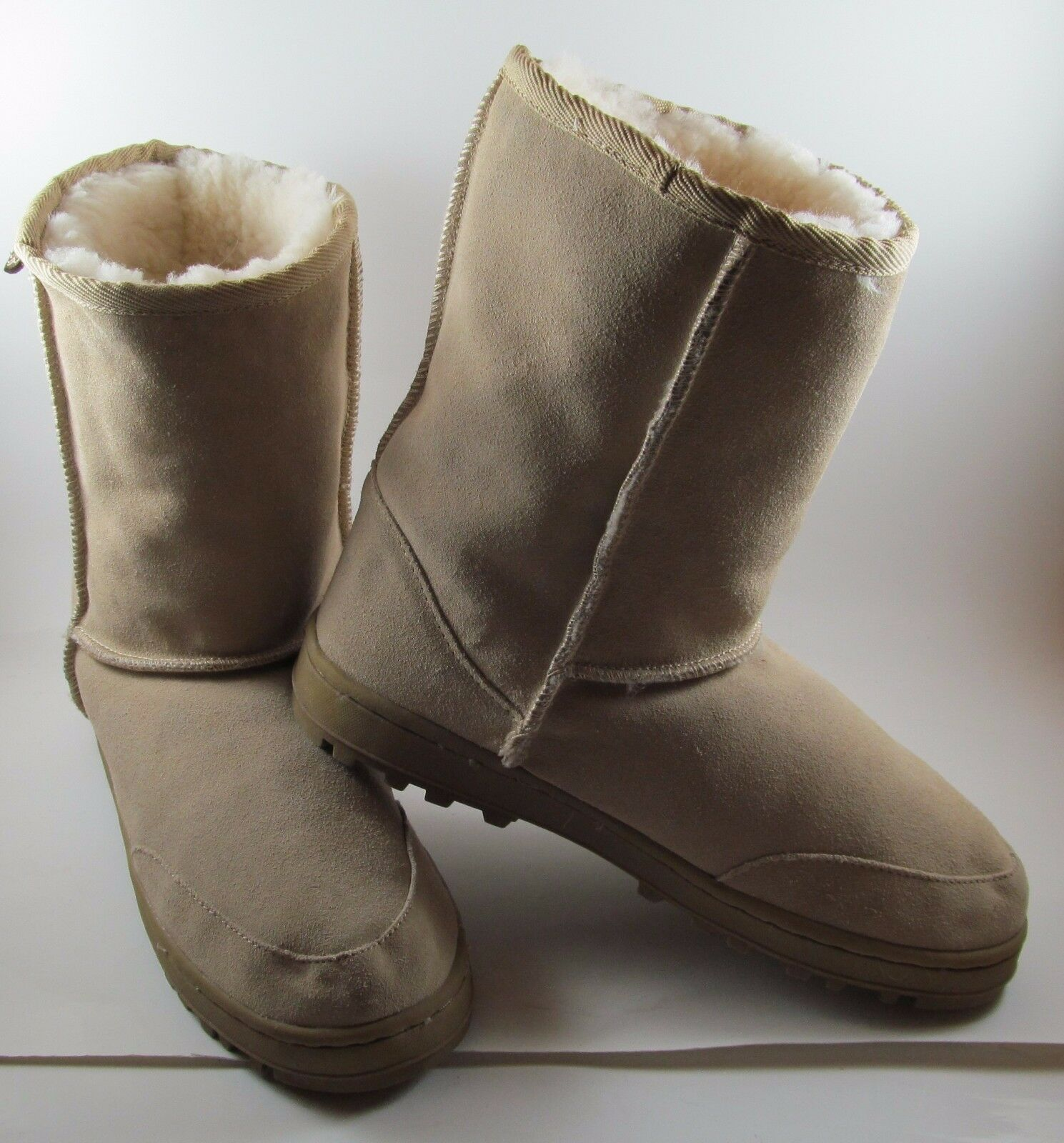 AUSTRALIAN BOOT COMPANY Womens 8 M Cow Suede Upper Sheep fur lining brown