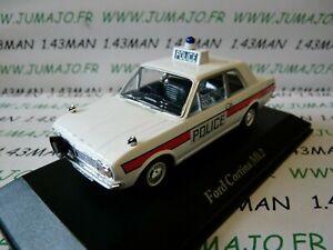 PUK5-voiture-1-43-CORGI-ATLAS-POLICE-CARS-FORD-Cortina-Mk-II-Hampshire