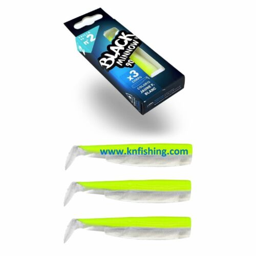 FIIISH /'BLACK MINNOW 90mm/' No.2 Silicone Lures Spinning Lrf Freshwater Fishing