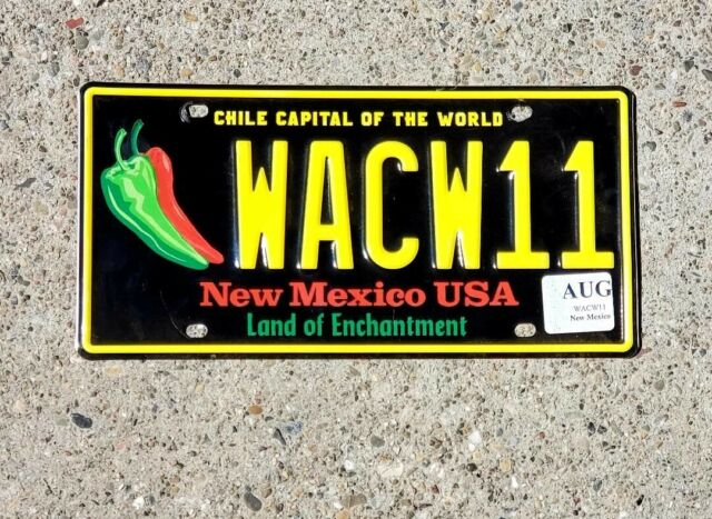 NEW MEXICO CHILI PEPPER REAL AUTHENTIC LICENSE PLATE AUTO NUMBER CAR TAG NM ZIA