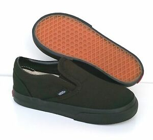 vans classic black mono slip-on plimsolls