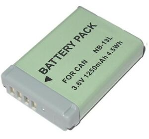 NB-13l-NB13L-Battery-Canon-PowerShot-Sx720-N100-G5x-G7X-G9X-1-Year-Warranty