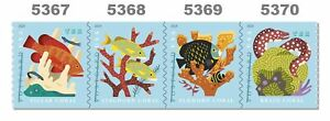 5367-70-5370a-Coral-Reefs-35c-Coil-Strip-of-4-Postcard-Rate-2019-MNH-Buy-Now