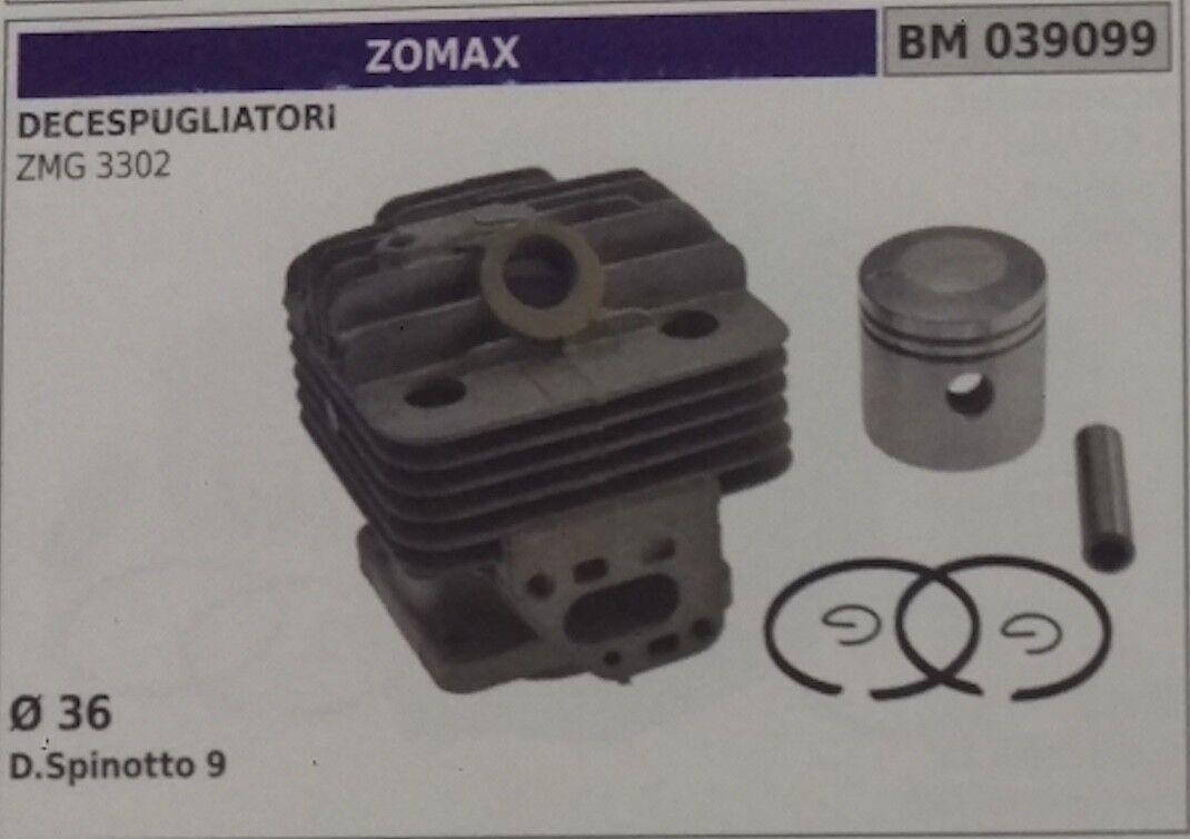 Cilindro Completo Pistón Cortador de Cepillo Motosierra Zomax Zmg 3302 Ø 36