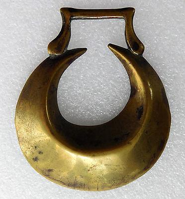 Vintage horse brass crescent horse hoof shape