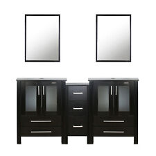 Charlton Home Griffithville 60 Double Bathroom Vanity Set With Mirror For Sale Online Ebay