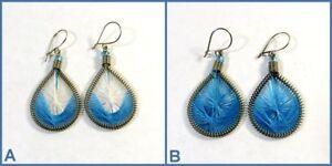 Angemessen Ohrringe Ohrschmuck Fadenohrringe Tropfen Blau Verschiedene Modelle Damen Neu!!
