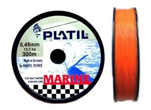 0-30-1m-Platil-Marine-0-50mm-300m-Orange-Top-Salzwasserschnur-Angelschnur