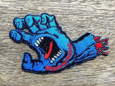 DEVIL ZOMBIE MONSTER BONE HAND SKATEBOARD BIKER EMBROIDERY IRON ON PATCH BADGE