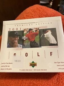 2001 Upper Deck Golf Box Factory Sealed From Case - Tiger Woods Rookie Year