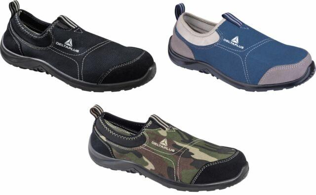 f63aa28011f Delta Plus Miami S1p Blue Ladies Slip on Steel Toe Safety Lightweight  Trainers Uk4