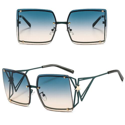 Trending 2020 Oversized Square Sunglasses Outdoor Shades Gradient Eyewear UV400